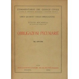 Obbligazioni pecuniarie. Art. 1277-1284