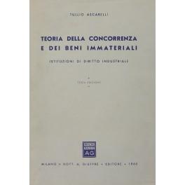 Teoria della concorrenza e dei beni immateriali