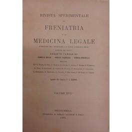 Rivista sperimentale di freniatria e di medicina legale