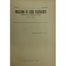 Rassegna di studi psichiatrici. Diretta da Antonio D'Ormea