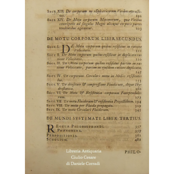 Philosophiæ Naturalis Principia Mathematica.