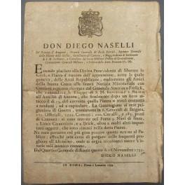 Editto Don Diego Naselli