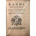 Bandi politici della città d'Alessandria