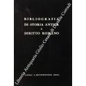 Bibliografia di storia antica e diritto romano