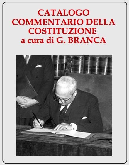Catalogo Commentario della Costituzione
